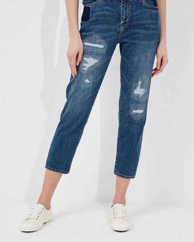 Синие джинсы бойфренды Armani Exchange