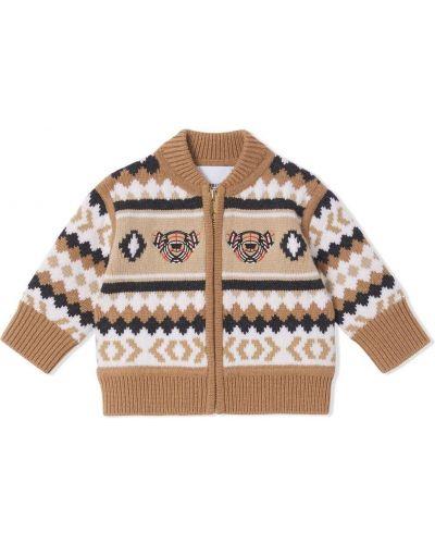 Brązowy z kaszmiru sweter Burberry Kids