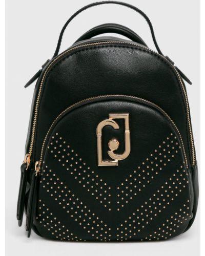 Кожаный рюкзак черный однотонный Liu Jo