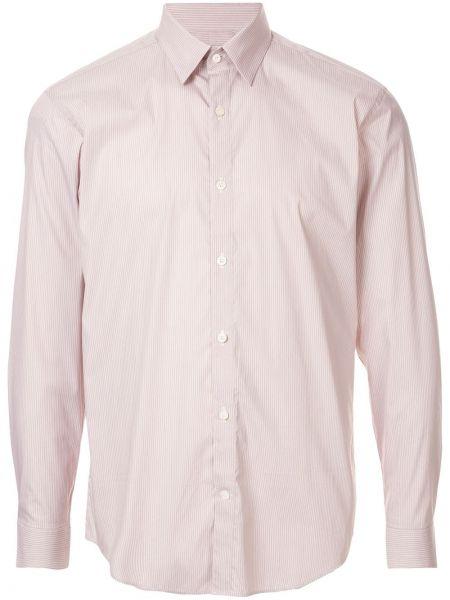 Хлопковая классическая коричневая рубашка с воротником Cerruti 1881
