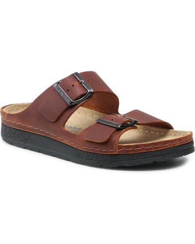 Brązowe sandały na lato Berkemann