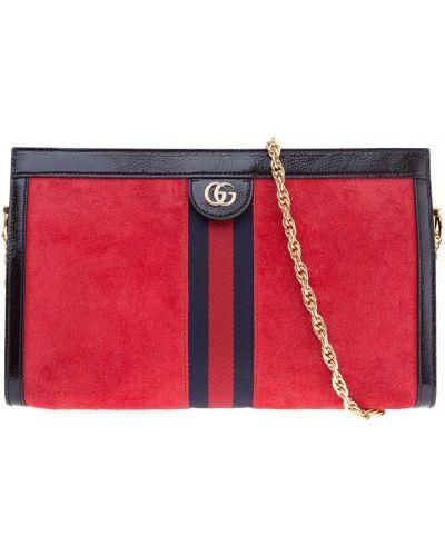 Сумка на цепочке кожаный сумка-мешок Gucci