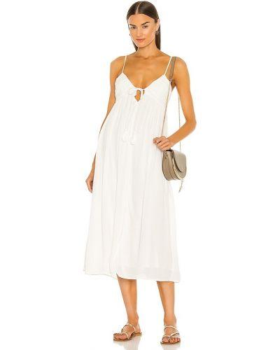 Белое платье миди с подкладкой на молнии Majorelle