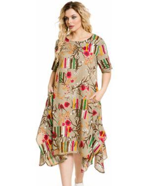 Платье в стиле бохо через плечо Novita