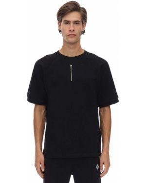 Czarny t-shirt bawełniany z raglanowymi rękawami Gr Uniforma X Diesel Red Tag
