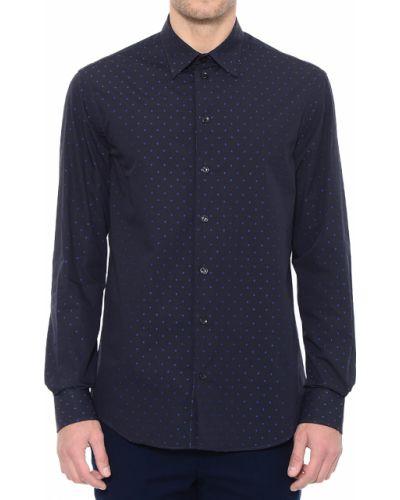 Синяя рубашка хлопковая Armani Collezioni