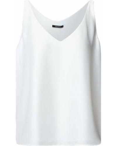 Koszulka w serek z dekoltem w serek - biała Swing