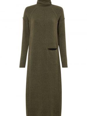 Вязаное платье - зеленое Bonprix