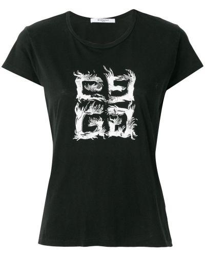 Bawełna z rękawami czarny koszula Givenchy