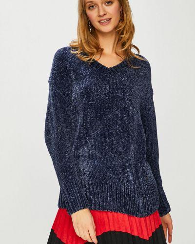 Синий вязаный свитер с вырезом Broadway