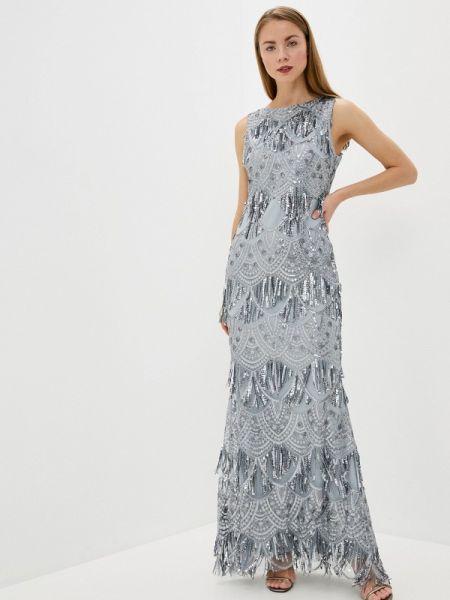 Вечернее платье серое весеннее Goddiva