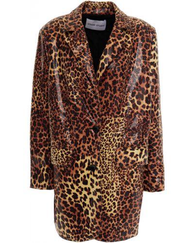 Кожаная куртка с подкладкой Stand Studio