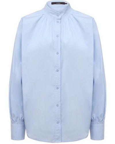 Хлопковая рубашка - голубая Windsor