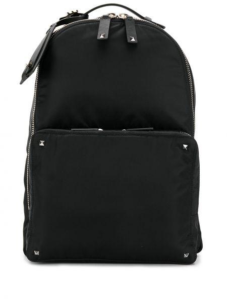 Czarny plecak z nylonu Valentino