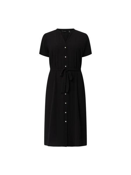 Czarna sukienka mini z paskiem krótki rękaw Vero Moda Curve