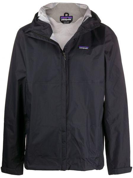 Прямая нейлоновая черная куртка с капюшоном на молнии Patagonia