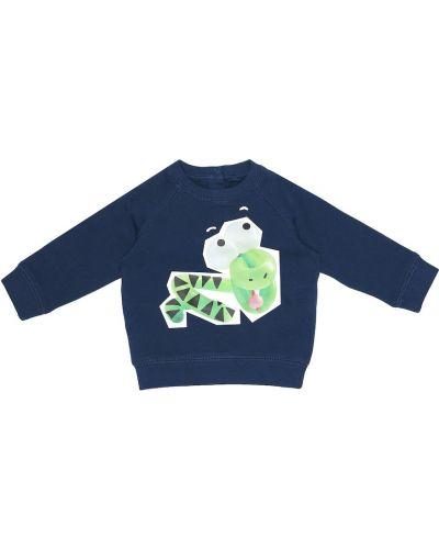 Ватный синий хлопковый свитшот Stella Mccartney Kids