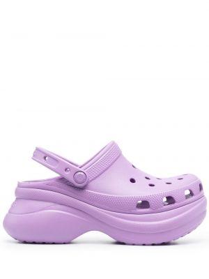 Фиолетовые классические туфли с перфорацией круглые Crocs