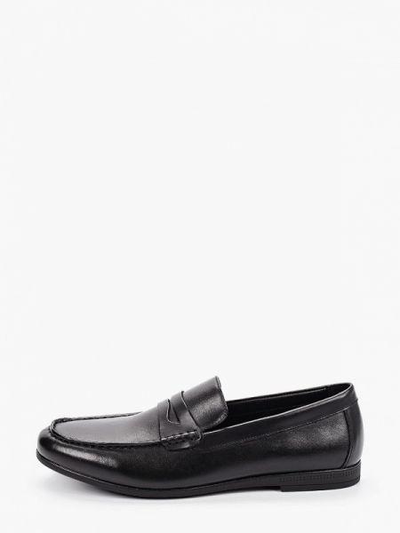 Черные кожаные мокасины Pierre Cardin
