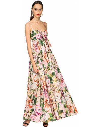 Платье макси на бретелях с кружевными рукавами Dolce & Gabbana