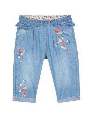 Синие джинсы с вышивкой Mothercare
