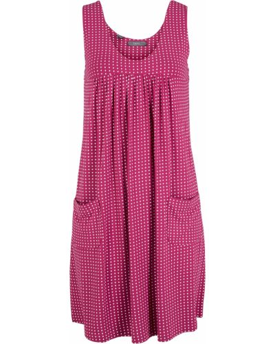 Фиолетовое трикотажное платье с карманами Bonprix