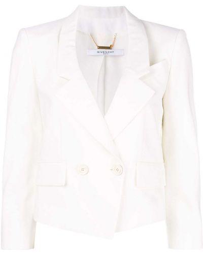Biała kurtka miejska wełniana Givenchy