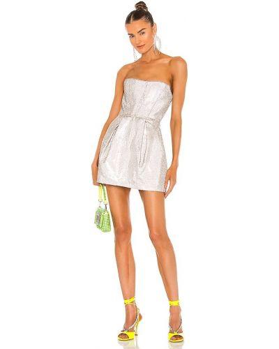 Кружевное платье мини - серебряное Bronx And Banco