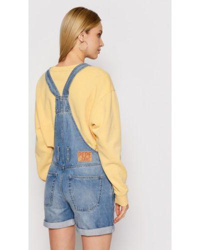 Niebieski kombinezon jeansowy Pepe Jeans