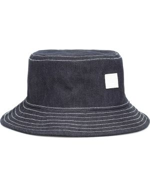 Джинсовая шапка - синяя Acne Studios