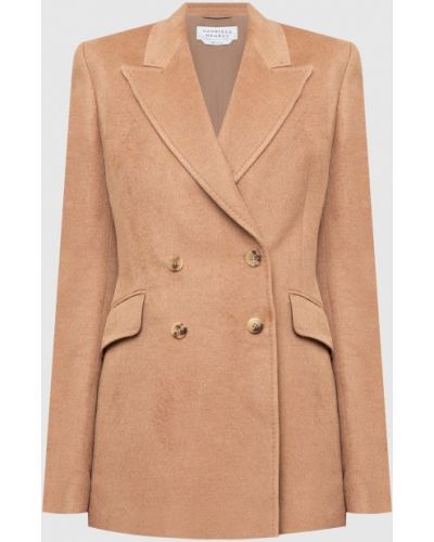 Бежевый пиджак двубортный Gabriela Hearst