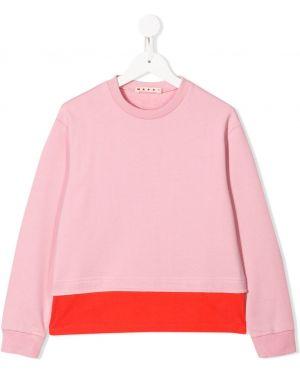 Bluza z haftem różowy Marni Kids
