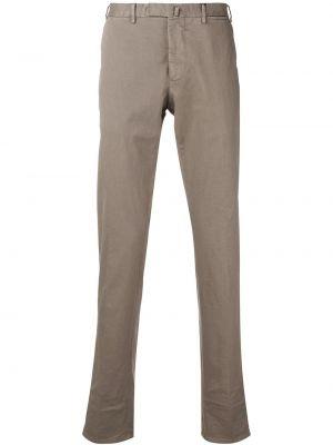 Прямые прямые брюки на пуговицах с карманами новогодние Dell'oglio
