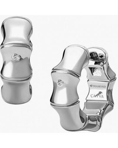 Серьги-кольца серебряные Cava.cool