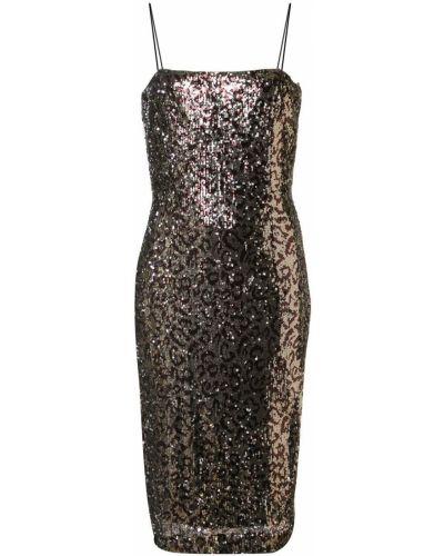 Платье леопардовое на бретелях Milly