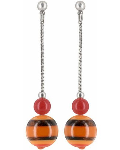 Оранжевые серьги Nature Bijoux