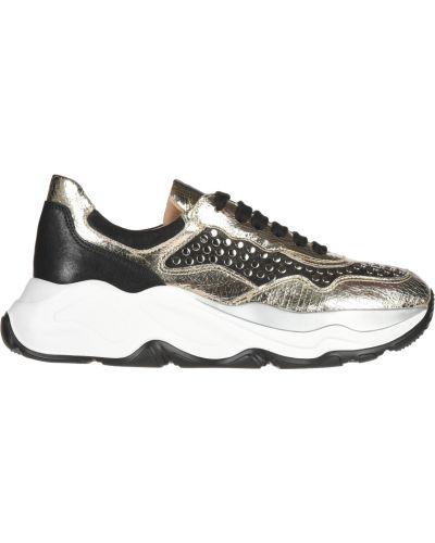 Кожаные кроссовки - золотые Laura Bellariva