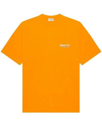 Pomarańczowa t-shirt Balenciaga