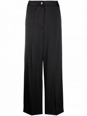 Satynowe spodnie - czarne Mm6 Maison Margiela