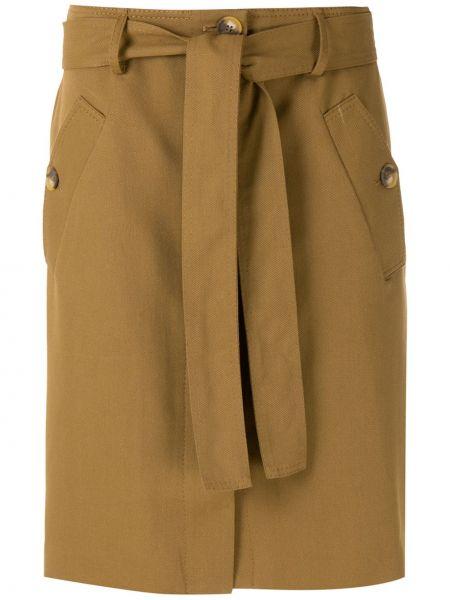 Хлопковая прямая юбка на пуговицах Egrey