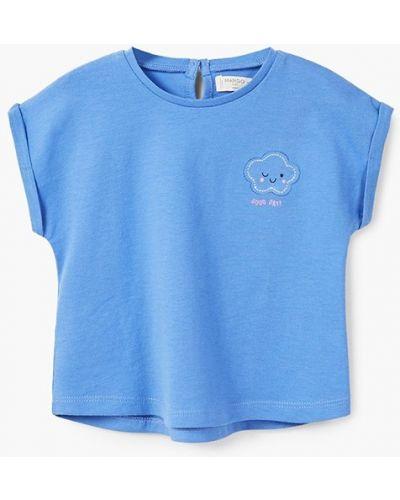 Синяя футболка Mango Kids