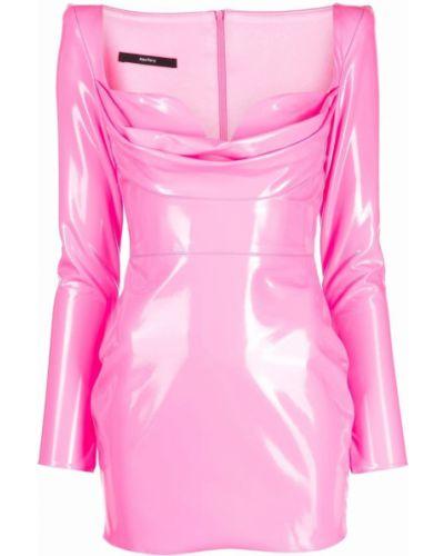 Платье макси с длинными рукавами - розовое Alex Perry