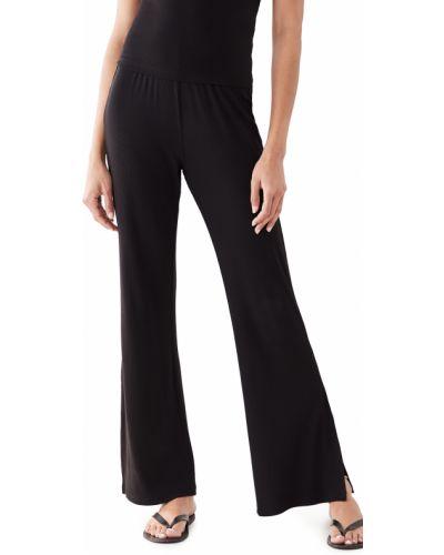 Черные брюки на резинке для полных Lna