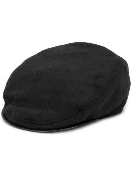 Czarny beret bawełniany Dolce And Gabbana