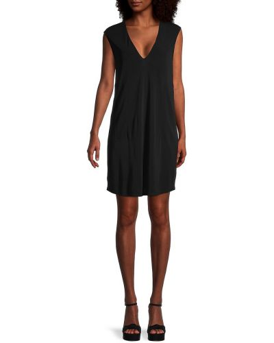 Sukienka z dekoltem w serek - czarna Helmut Lang