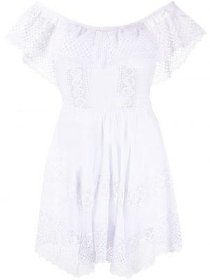Платье с открытыми плечами - белое Charo Ruiz Ibiza