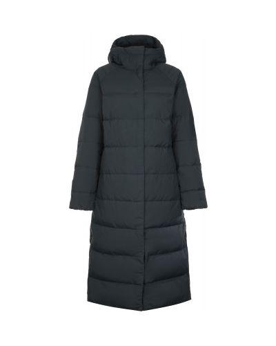 Серая пуховая длинная куртка на молнии Mountain Hardwear