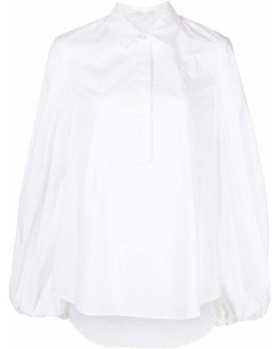 Хлопковая белая классическая рубашка с воротником Caroline Constas