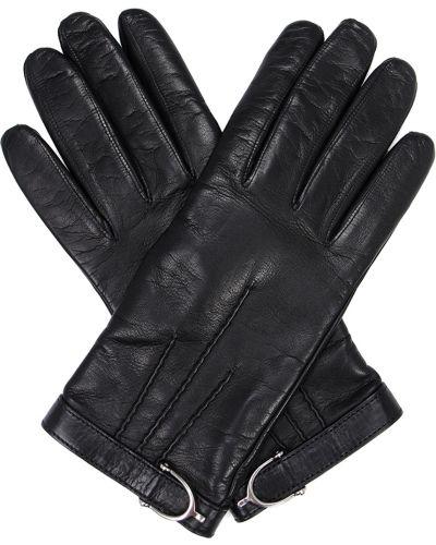 Кожаные перчатки с декоративной отделкой с разрезом Gucci