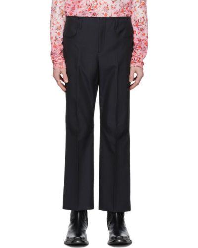 Bawełna spodni czarny spodnie z kieszeniami Acne Studios